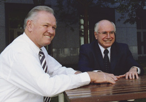 Jim Aitken with then Prime Minister John Howard
