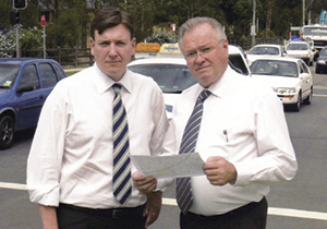 Jim Aitken with then Leader of the NSW Opposition John Brogden